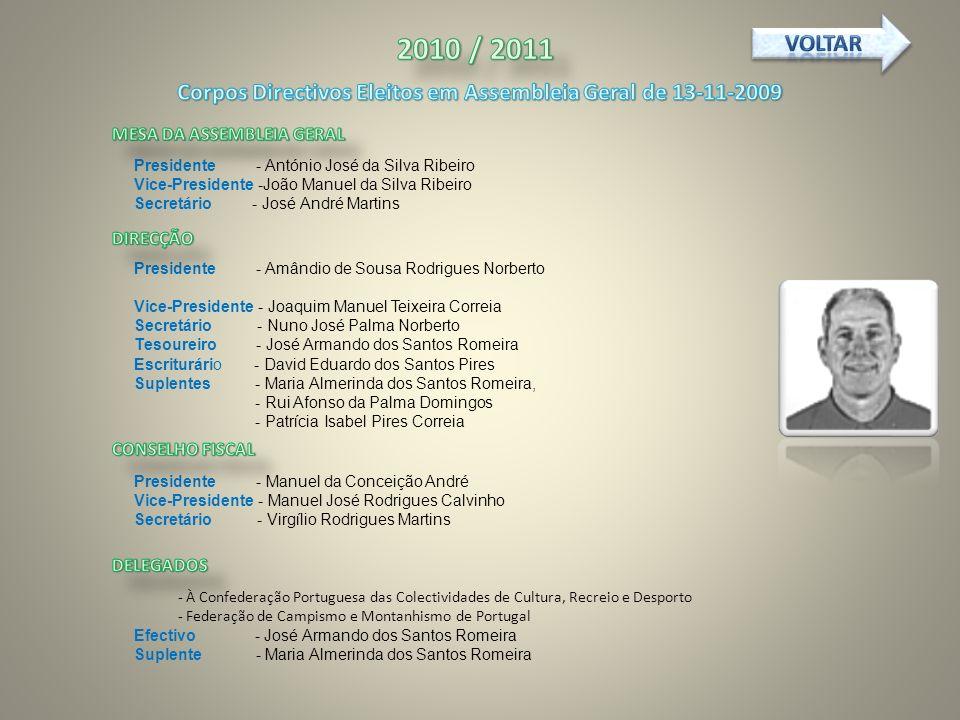 Corpos Directivos Eleitos em Assembleia Geral de 13-11-2009