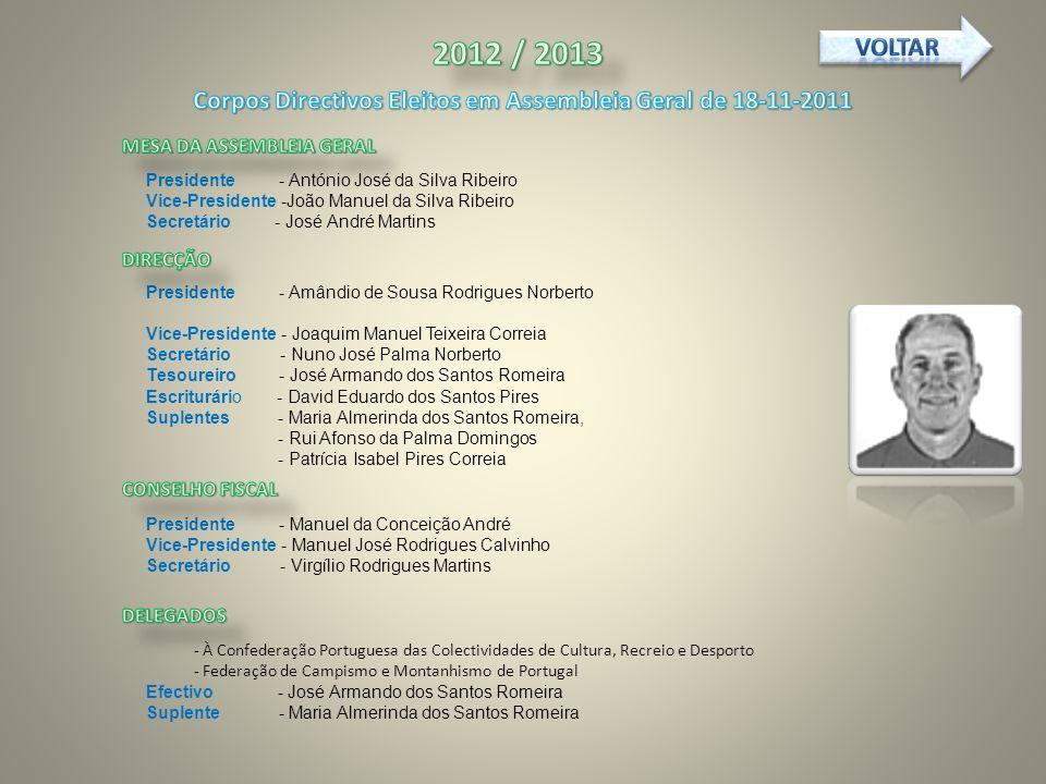 Corpos Directivos Eleitos em Assembleia Geral de 18-11-2011