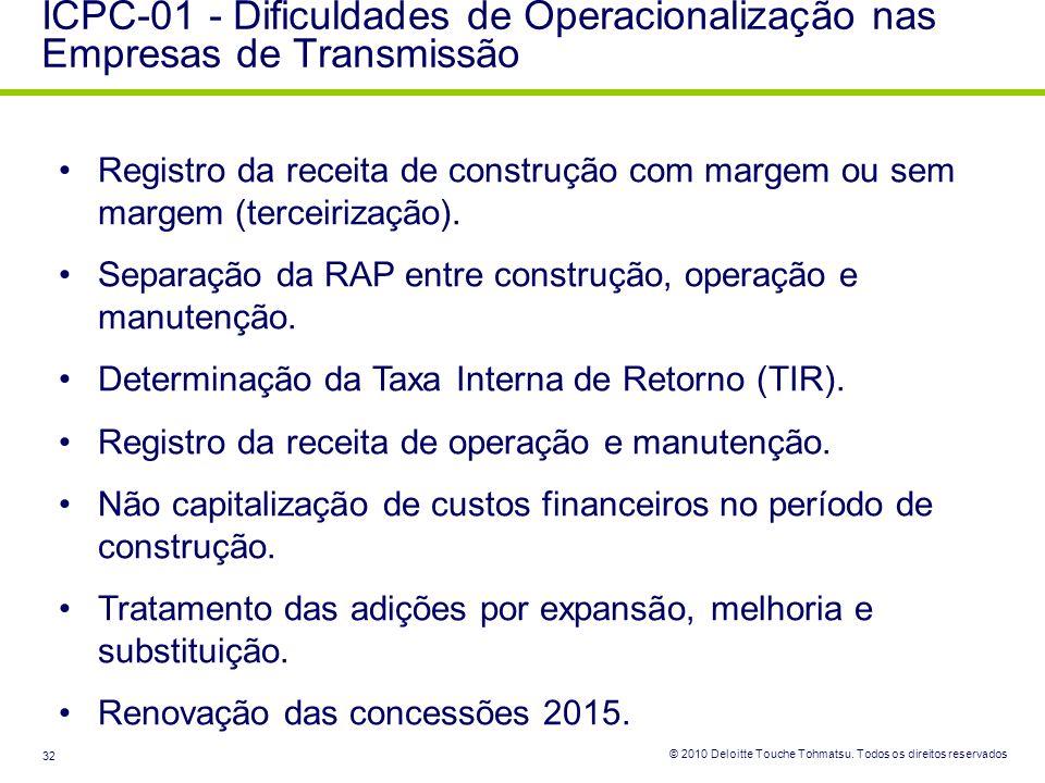 ICPC-01 - Dificuldades de Operacionalização nas Empresas de Transmissão