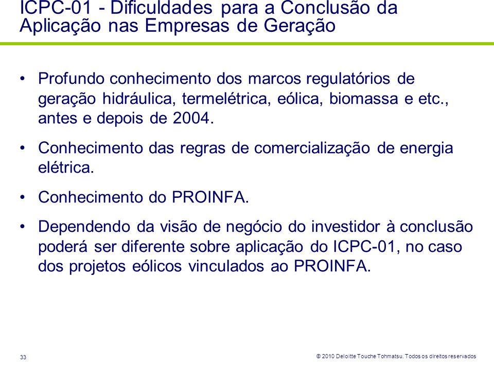 ICPC-01 - Dificuldades para a Conclusão da Aplicação nas Empresas de Geração
