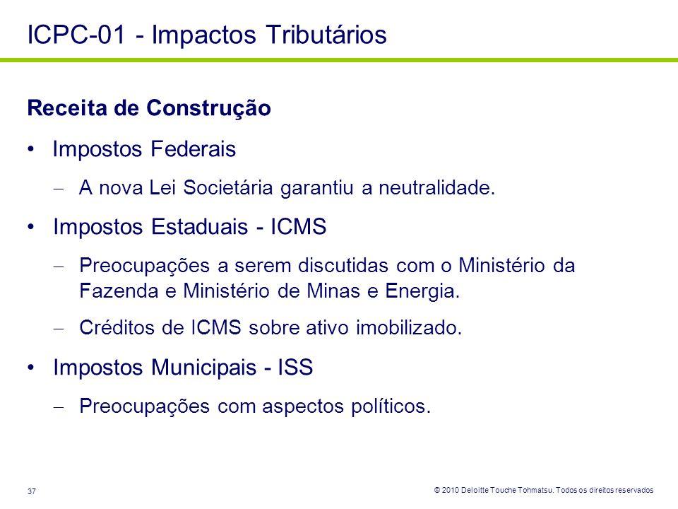 ICPC-01 - Impactos Tributários
