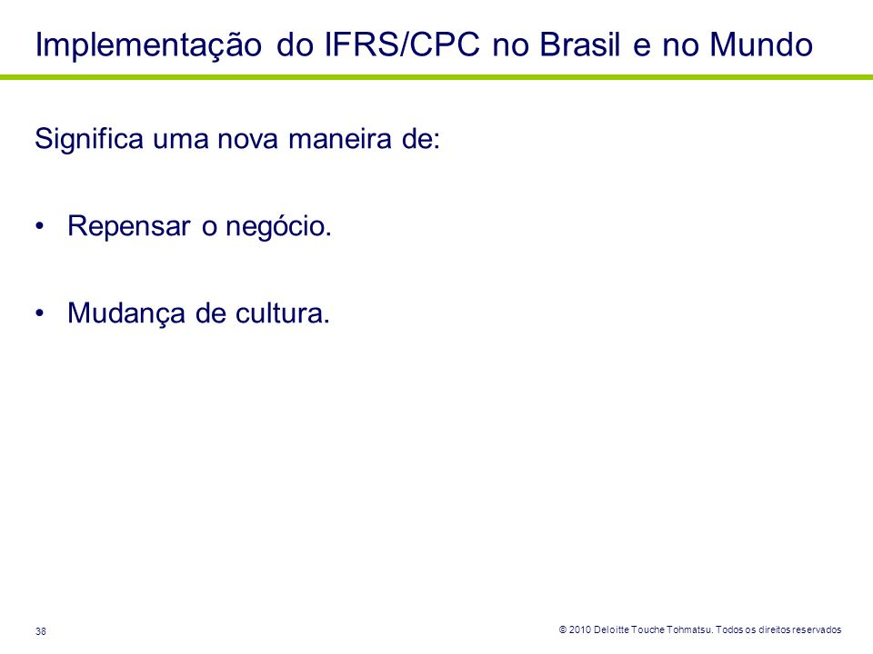 Implementação do IFRS/CPC no Brasil e no Mundo