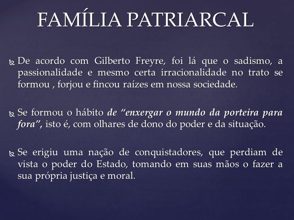 FAMÍLIA PATRIARCAL