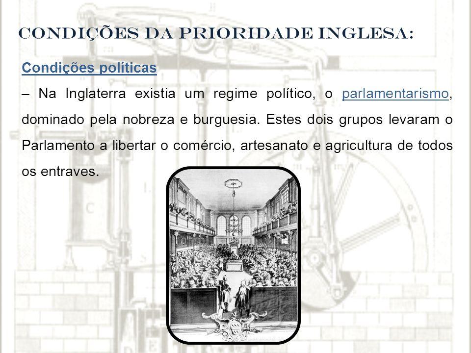 CONDIÇÕES DA PRIORIDADE INGLESA: