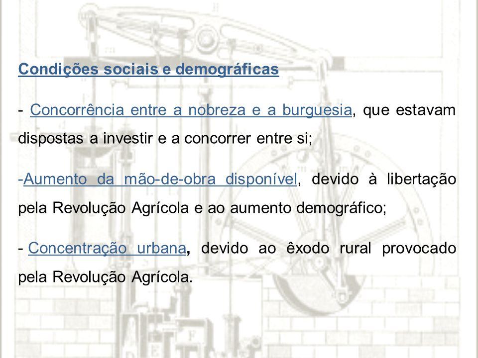 Condições sociais e demográficas