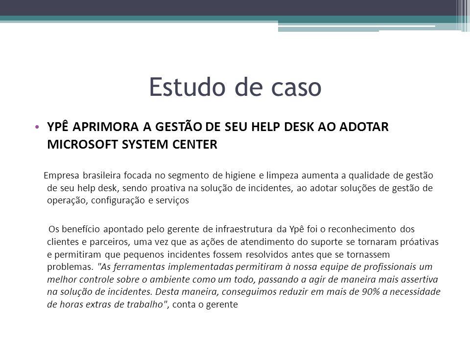 Estudo de caso YPÊ APRIMORA A GESTÃO DE SEU HELP DESK AO ADOTAR MICROSOFT SYSTEM CENTER.
