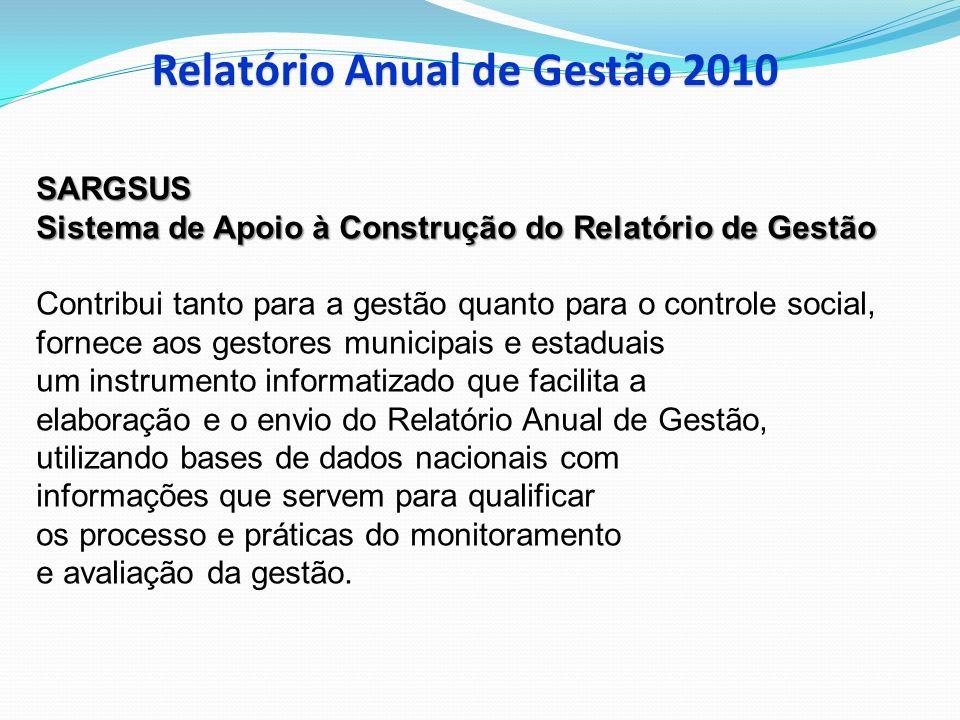 Relatório Anual de Gestão 2010