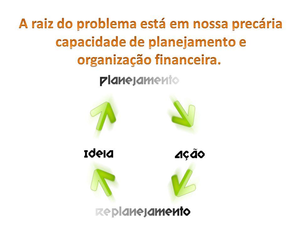 A raiz do problema está em nossa precária capacidade de planejamento e organização financeira.
