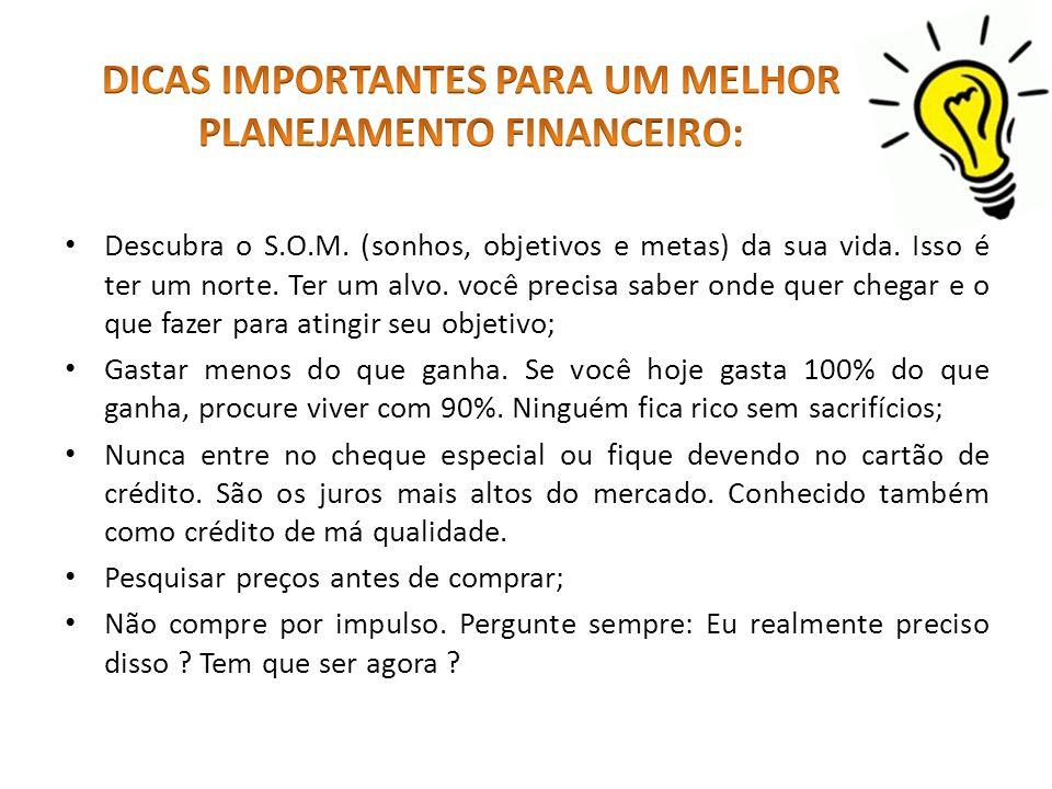 DICAS IMPORTANTES PARA UM MELHOR PLANEJAMENTO FINANCEIRO: