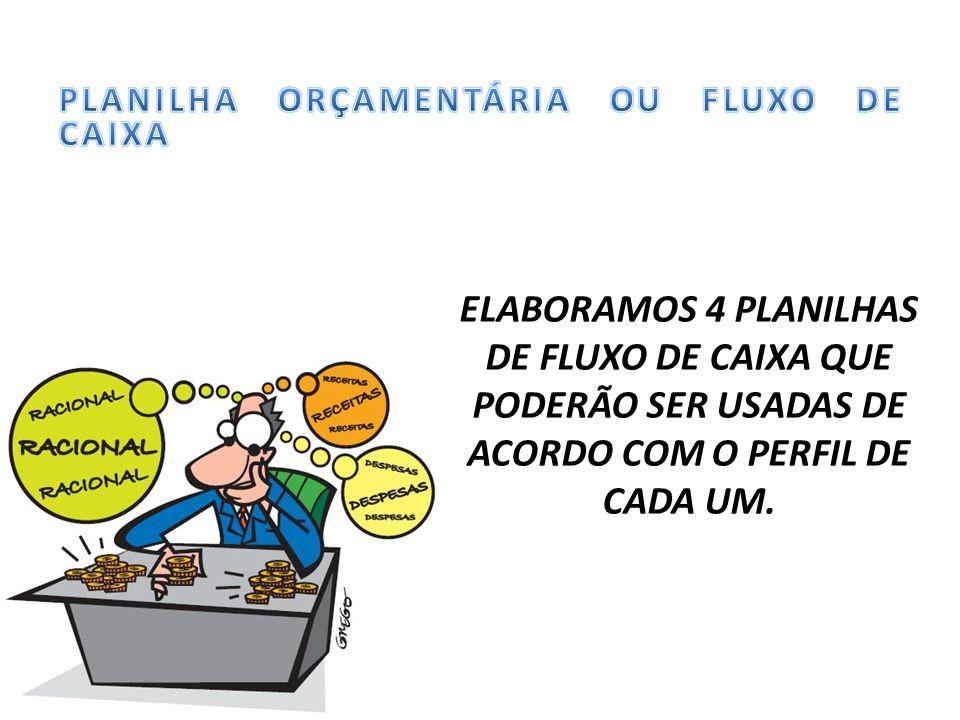 PLANILHA ORÇAMENTÁRIA OU FLUXO DE CAIXA