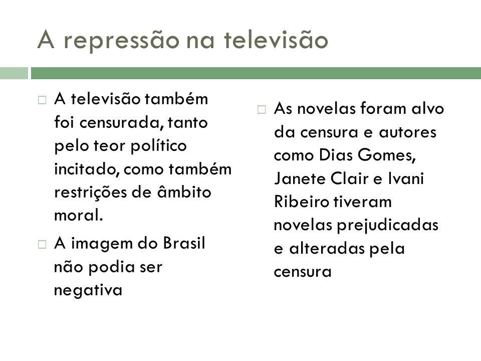 A repressão na televisão