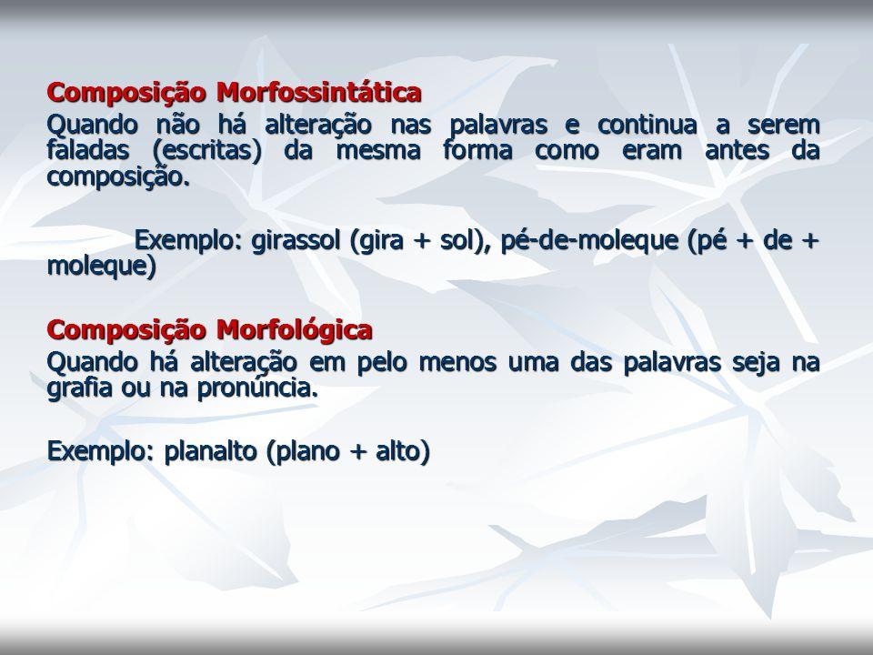 Composição Morfossintática