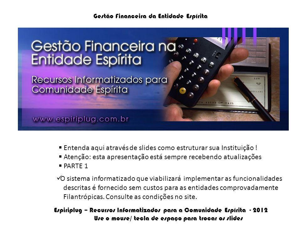 Gestão Financeira da Entidade Espírita