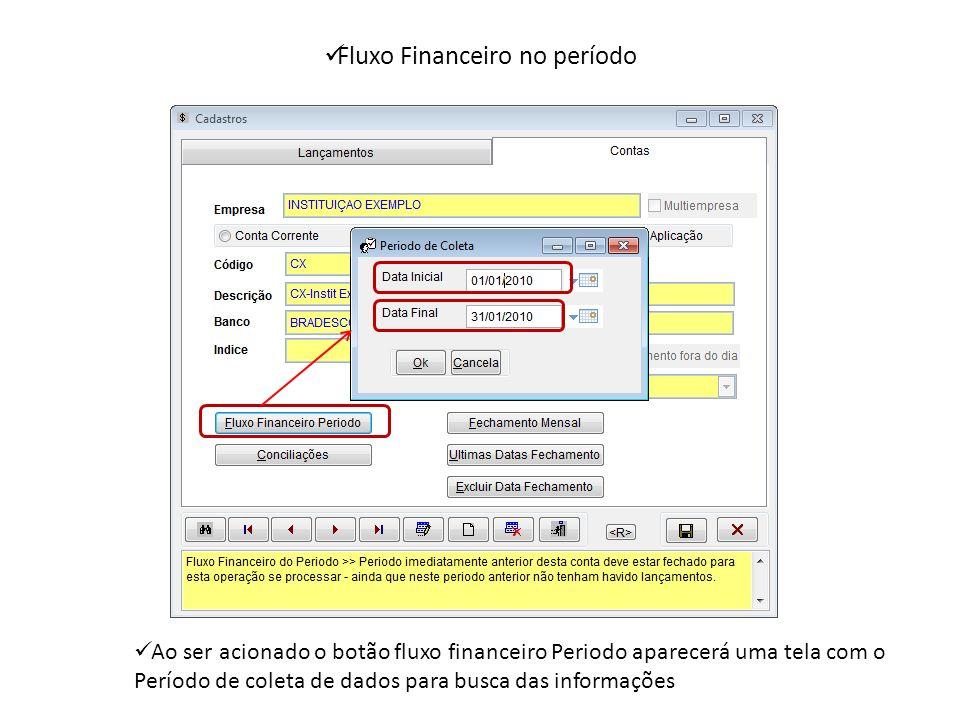 Fluxo Financeiro no período
