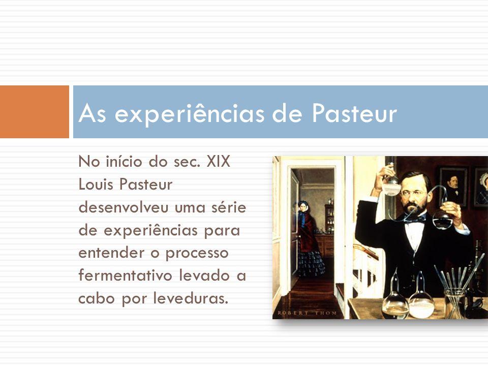As experiências de Pasteur