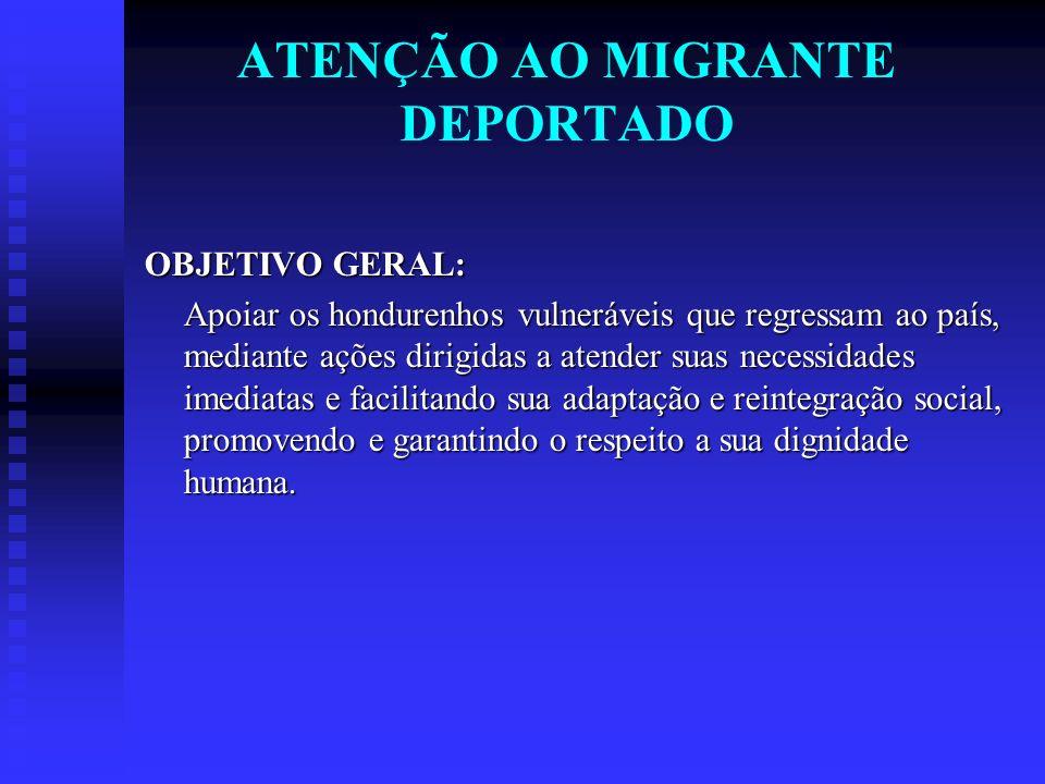 ATENÇÃO AO MIGRANTE DEPORTADO