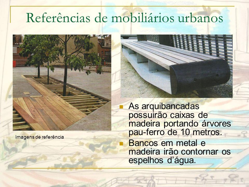 Referências de mobiliários urbanos