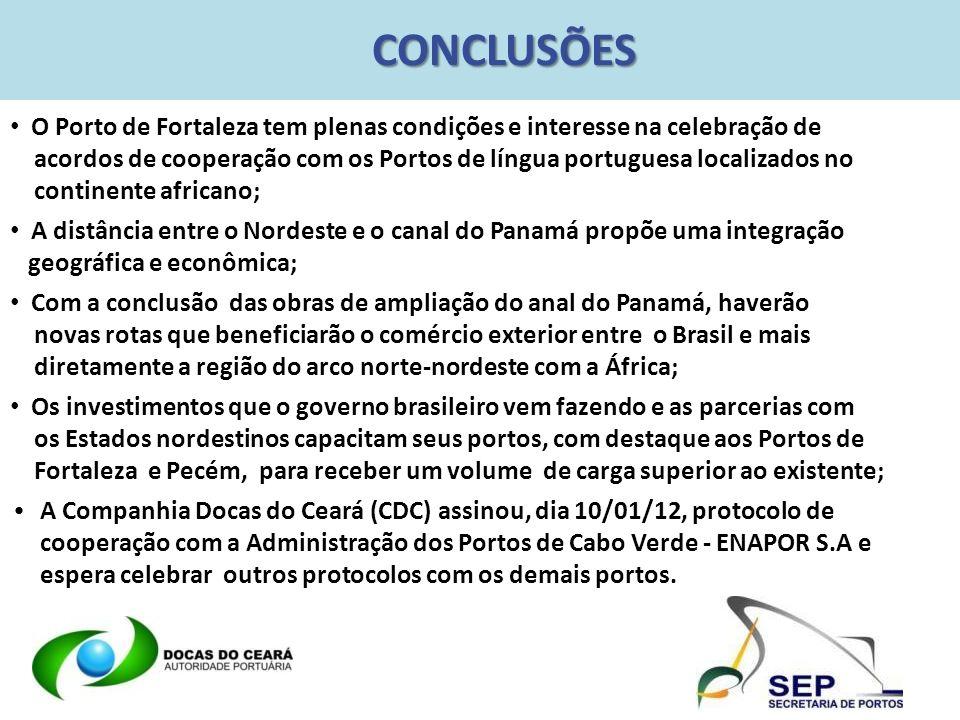 CONCLUSÕES O Porto de Fortaleza tem plenas condições e interesse na celebração de.
