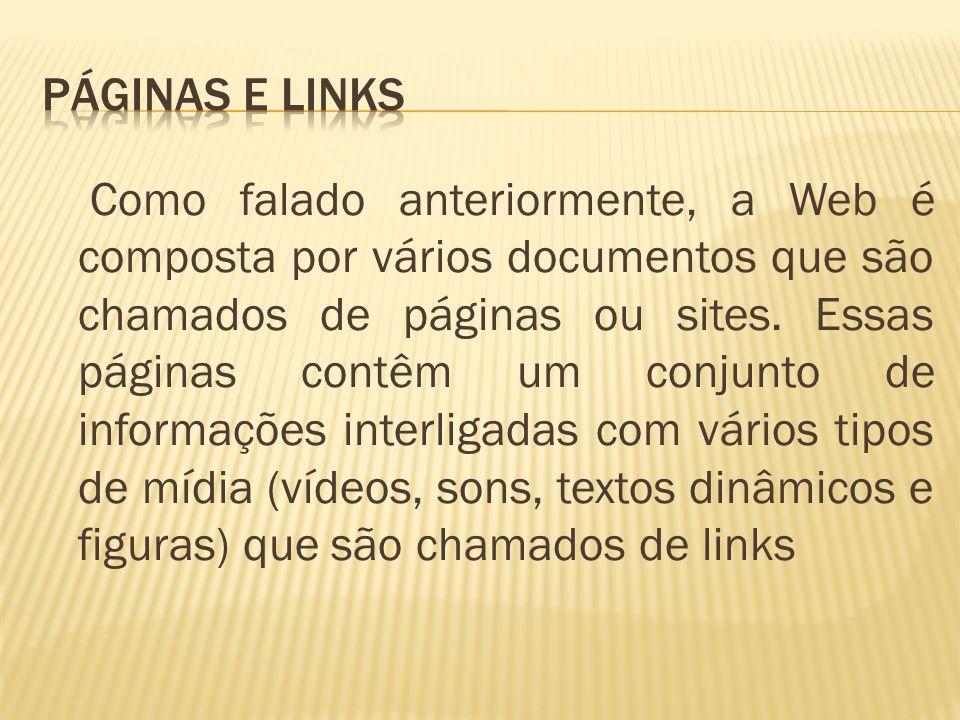 Páginas e Links