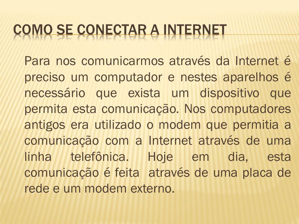 Como se conectar a Internet