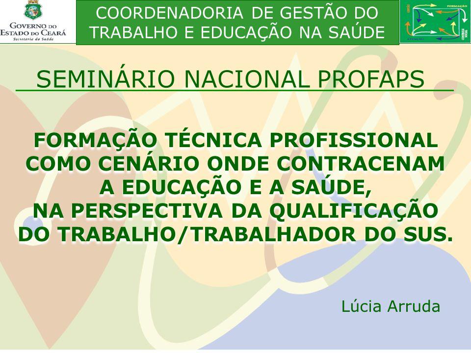 FORMAÇÃO TÉCNICA PROFISSIONAL COMO CENÁRIO ONDE CONTRACENAM