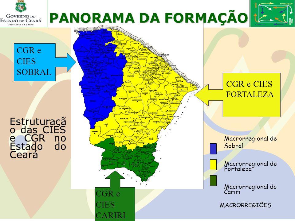 PANORAMA DA FORMAÇÃO Estruturaçã o das CIES e CGR no Estado do Ceará