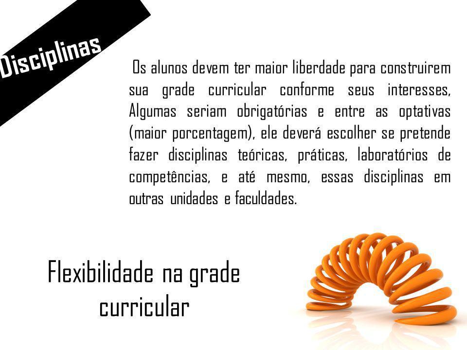 Flexibilidade na grade curricular