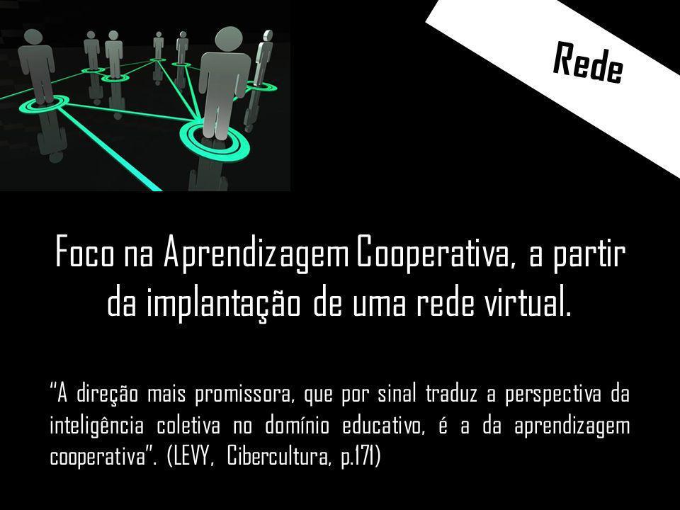 Rede Foco na Aprendizagem Cooperativa, a partir da implantação de uma rede virtual.