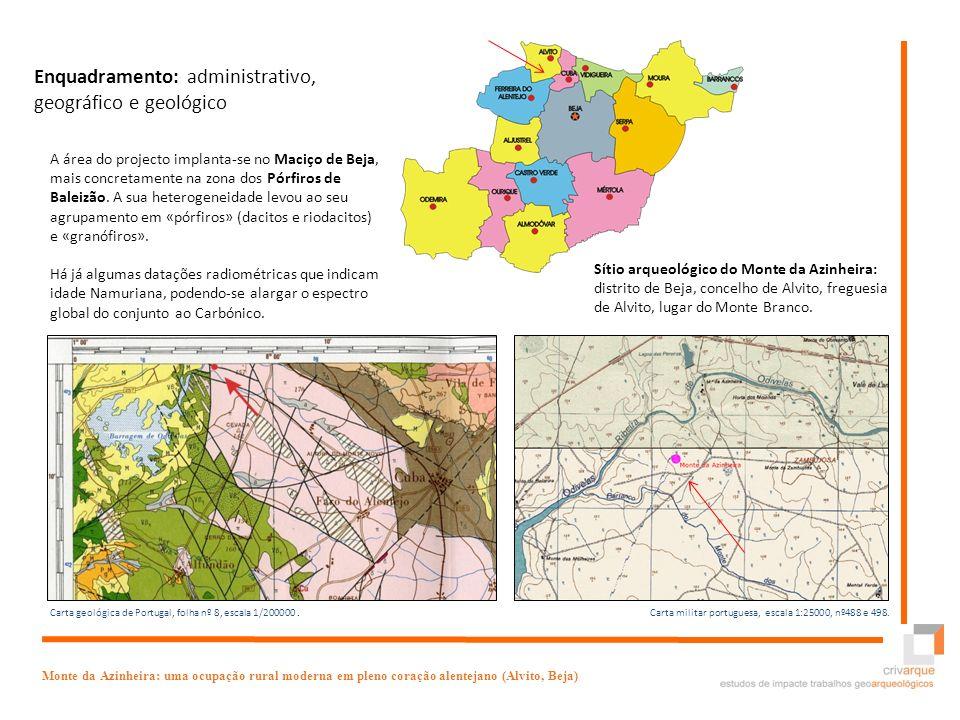 Enquadramento: administrativo, geográfico e geológico