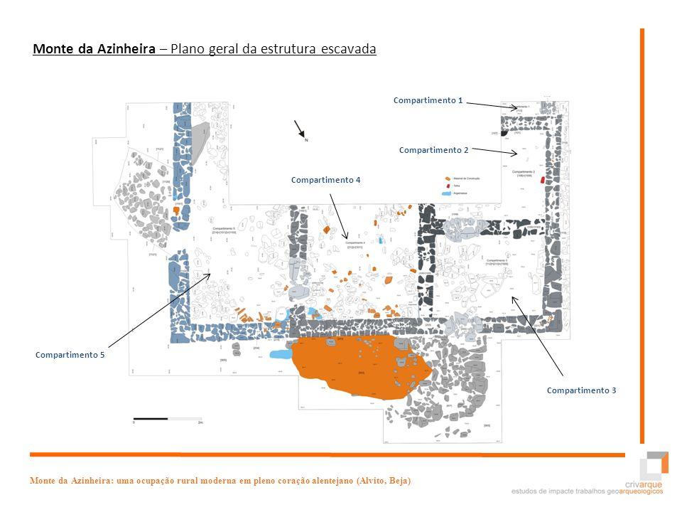 Monte da Azinheira – Plano geral da estrutura escavada