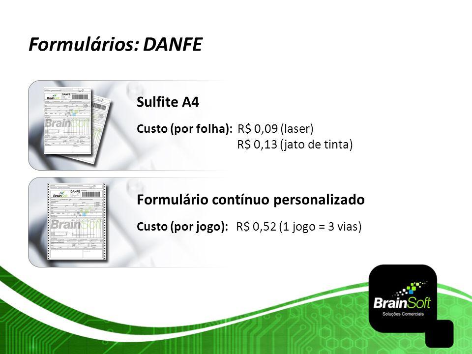Formulários: DANFE Sulfite A4 Formulário contínuo personalizado