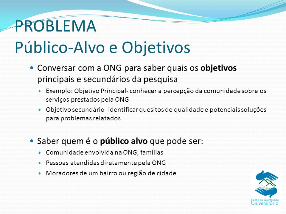 PROBLEMA Público-Alvo e Objetivos