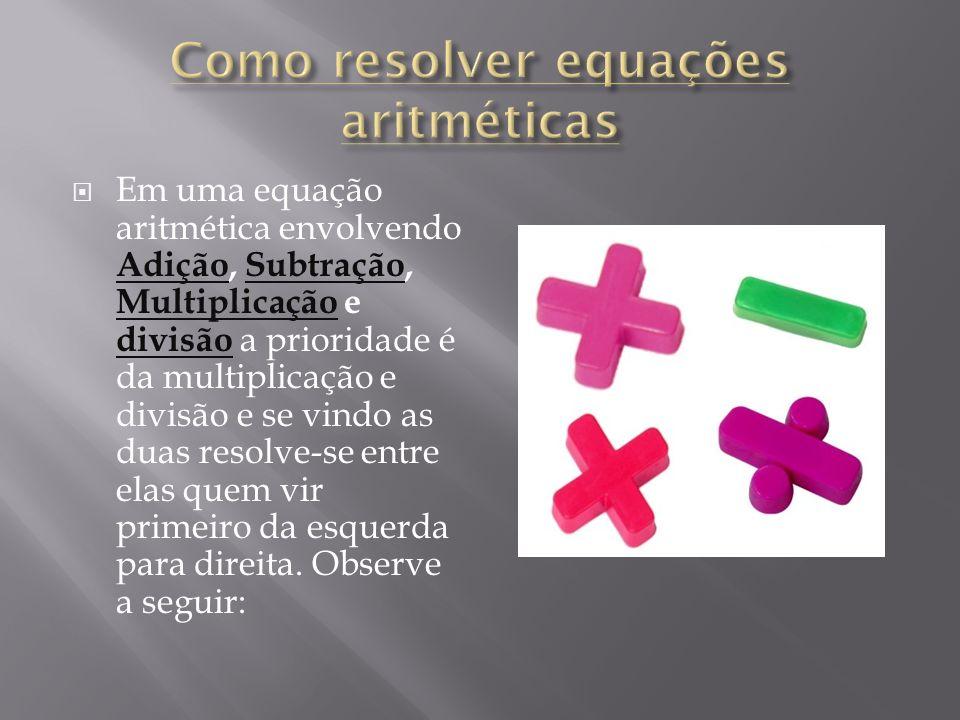 Como resolver equações aritméticas