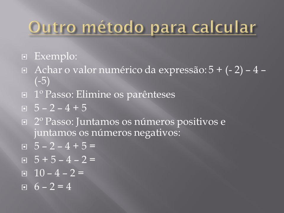 Outro método para calcular