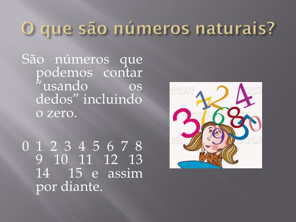 O que são números naturais