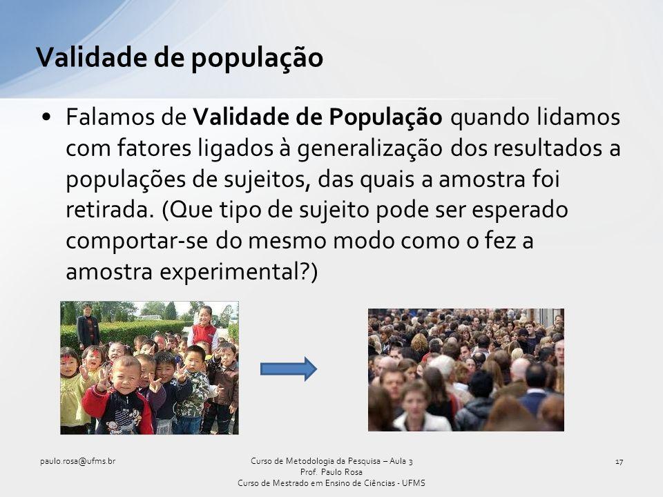 Validade de população