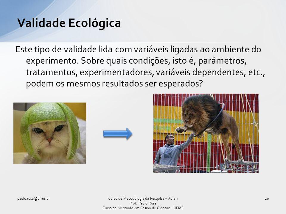 Validade Ecológica