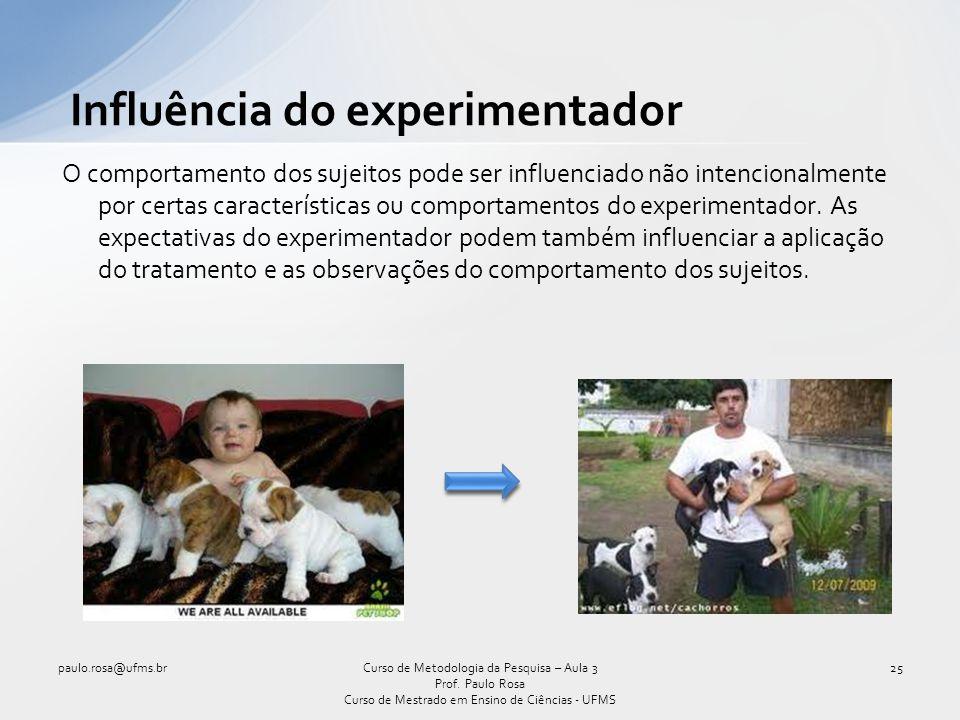 Influência do experimentador