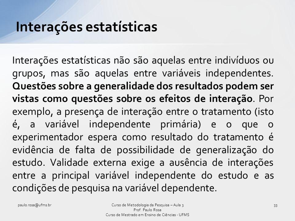 Interações estatísticas