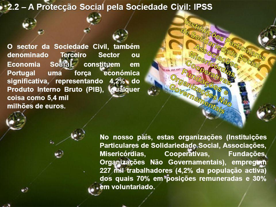 2.2 – A Protecção Social pela Sociedade Civil: IPSS