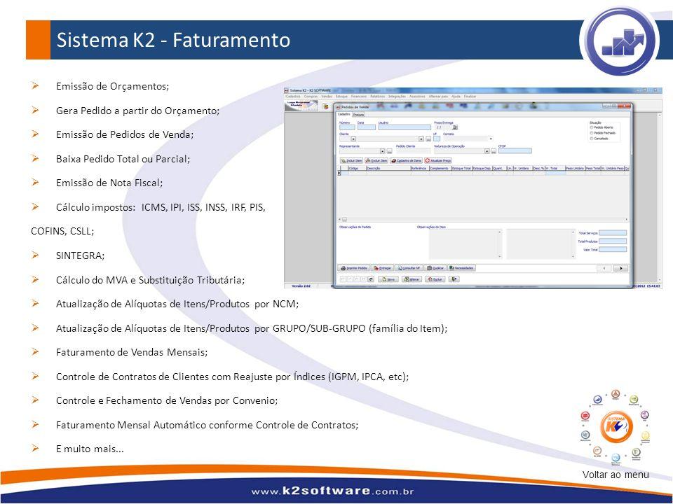 Sistema K2 - Faturamento