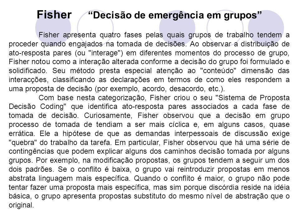 Fisher Decisão de emergência em grupos