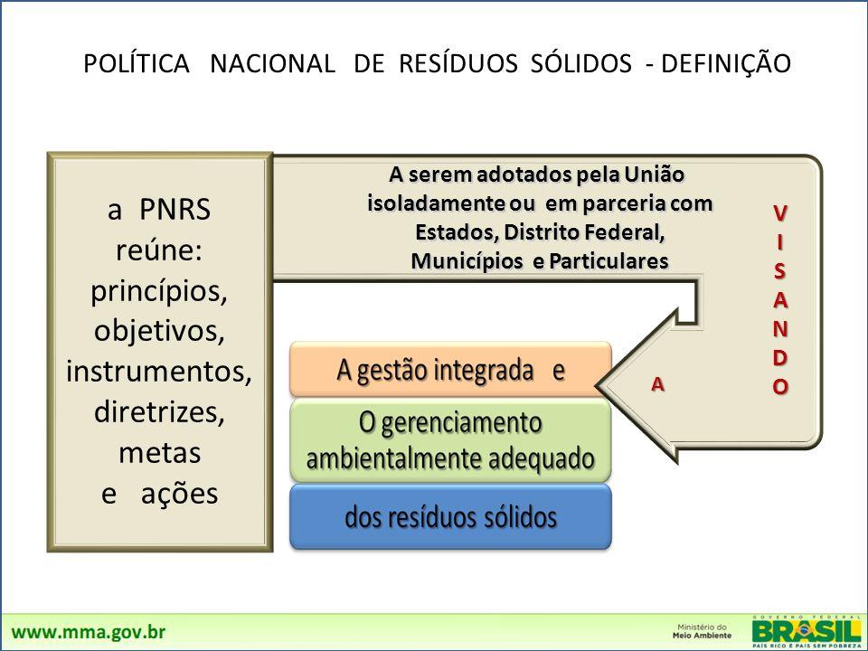 princípios, objetivos, instrumentos, diretrizes, metas