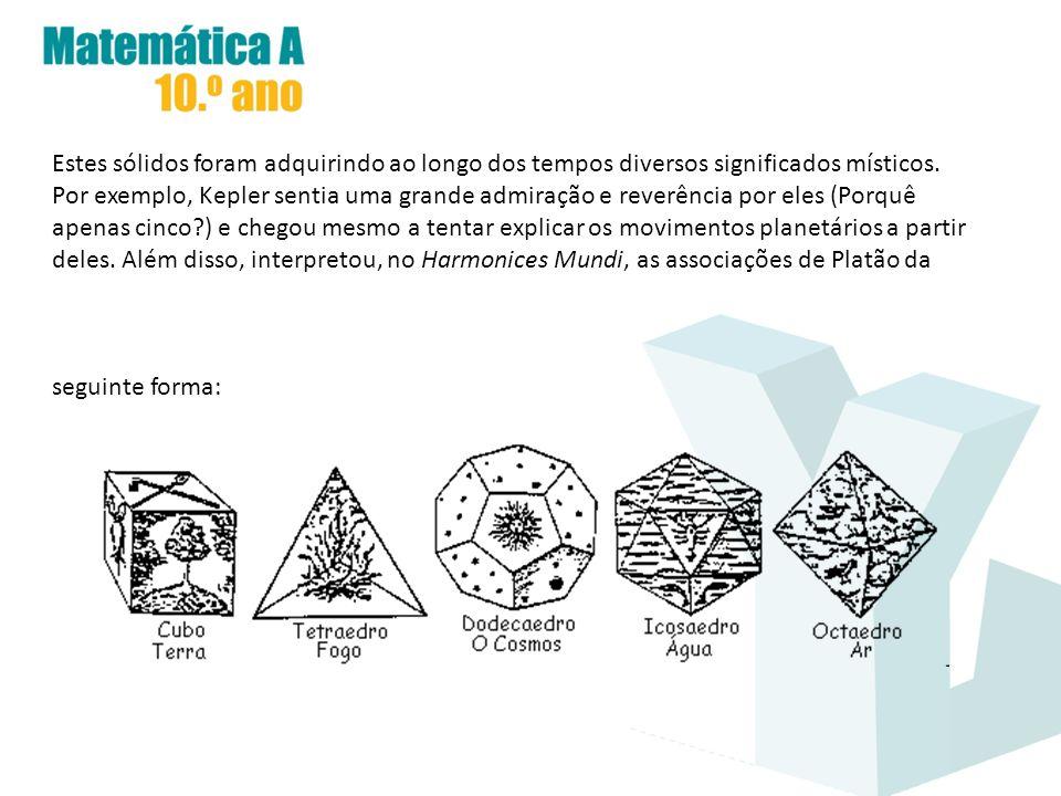 Estes sólidos foram adquirindo ao longo dos tempos diversos significados místicos.