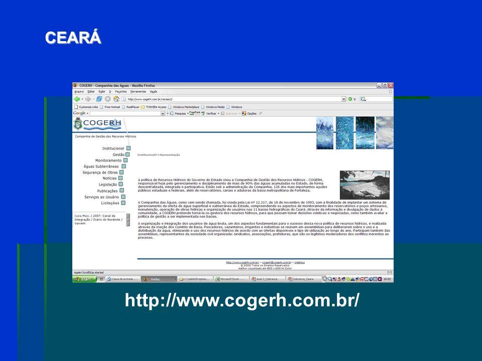 CEARÁ http://www.cogerh.com.br/