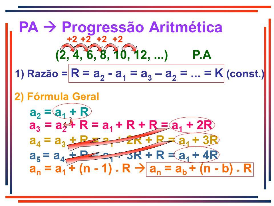 PA  Progressão Aritmética