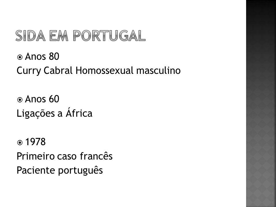 SIDA EM PORTUGAL Anos 80 Curry Cabral Homossexual masculino Anos 60