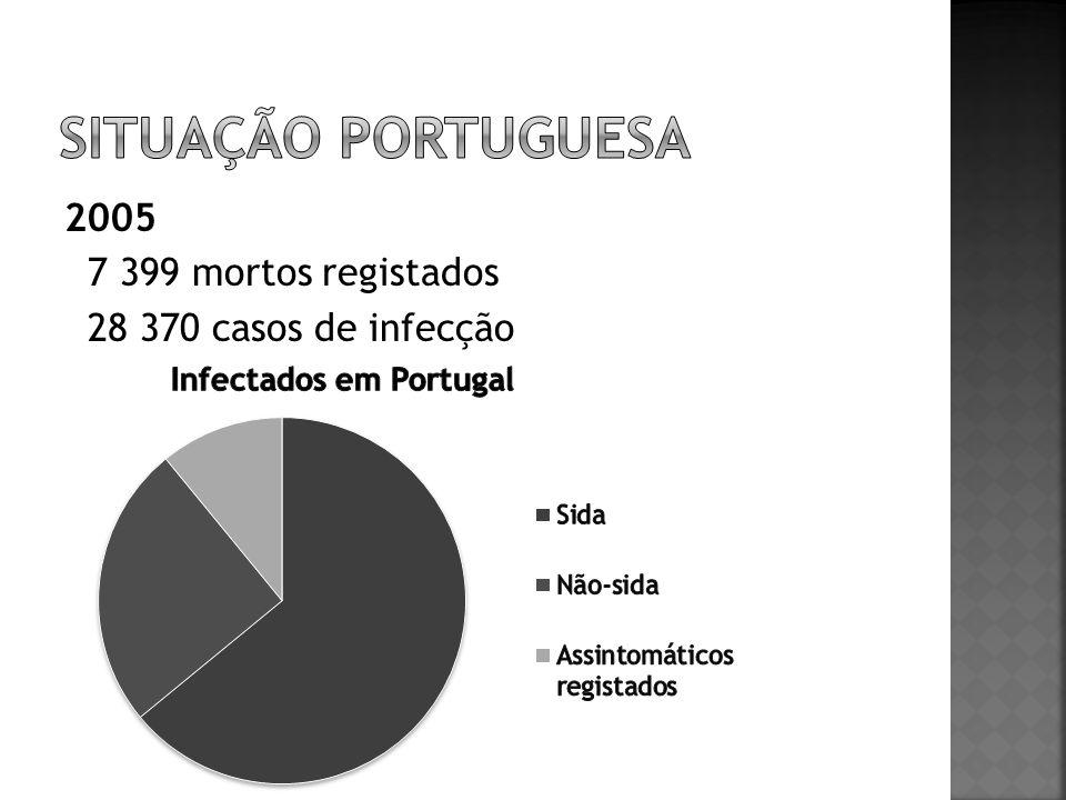 Situação portuguesa 2005 7 399 mortos registados 28 370 casos de infecção
