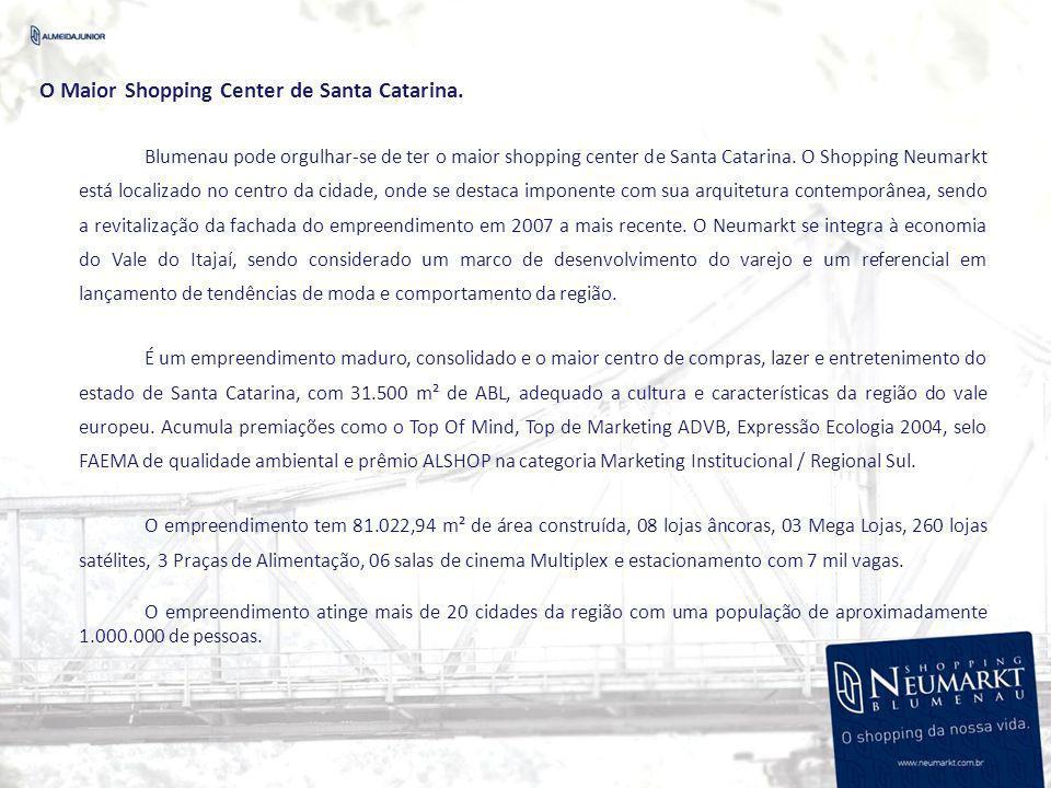 O Maior Shopping Center de Santa Catarina.