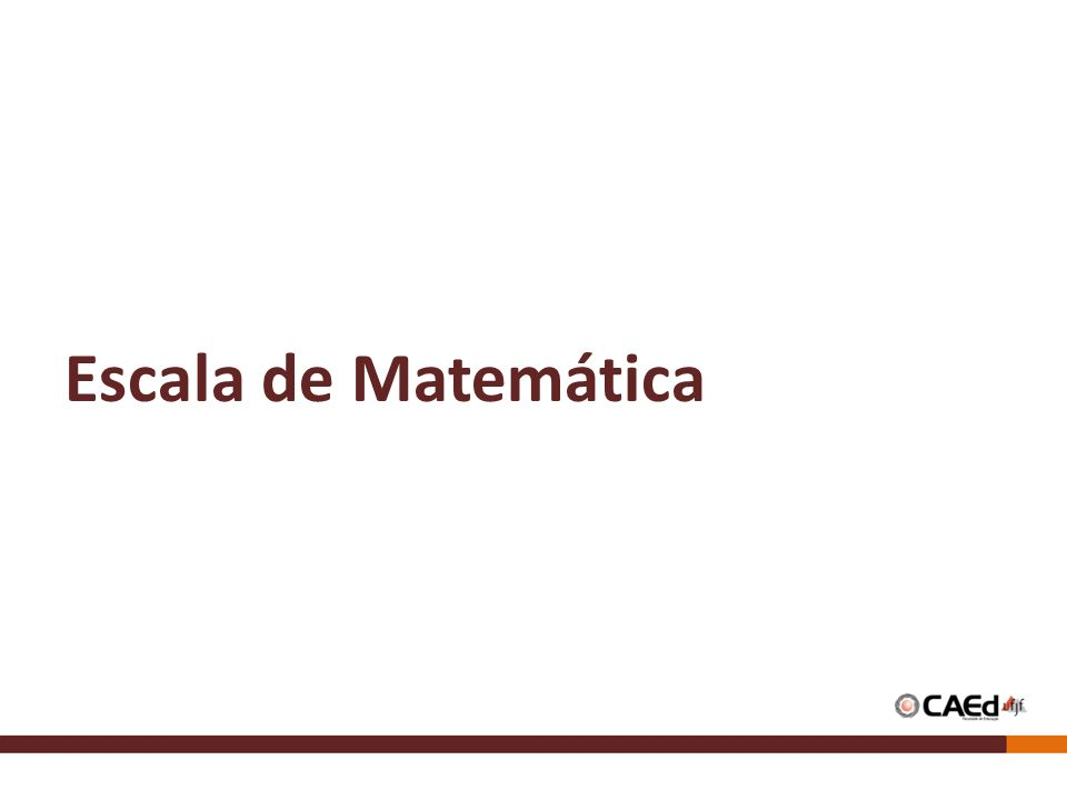 Escala de Matemática